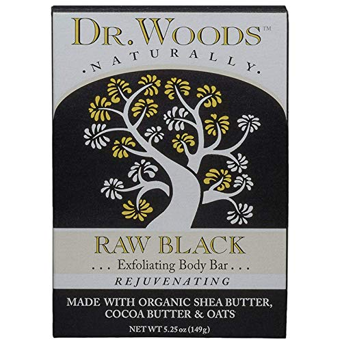 Dr. Woods Bar Soap Raw Black, 5.25 Ounce by Dr. Woods