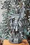 50 - 55 cm,silberfarben, PREMIUM - Heiligenfigur Heiliger Florian, mit Wasserkanne und Speer, Schutzpatron der Feuerwehr, der Bäcker, Kaminkehrer / Rauchfangkehrer, Töpfer, Bierbrauer und aller Feuerwehrleute - alle ÖLBAUM HEILIGEN- und Krippenfiguren zeichnen sich durch extrem sauber gearbeitete und präzise Gesichtszüge der Figuren aus, coloriertes Holzfiguren- bzw. Echtholzimitat, schlanke Form, standfeste Figuren