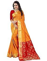 Women's Poly Silk Jacquard Work Wedding Wear Saree