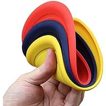 1, 3, 5 o 15 frisbee morbidi per cani / Dog Frisbee Disc, 3 pezzi, colorato misto, diametro ca. 17,5 cm in diversi colori in silicone morbido