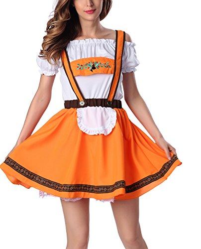 ZAMME Frauen-reizvolle Wäsche-Mädchen-Uniform-Kostüm Top + Rock (Japanische Sexy Kostüme)