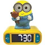 Lexibook Veilleuse Effets Lumineux et sonores-Minions Horloge Réveil Bob-pour Enfant-Fonction Snooze-Jaune/Bleu, RL800DES