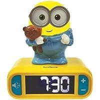 Lexibook Veilleuse Effets Lumineux et sonores-Minions Horloge Réveil Bob-pour Enfant-Fonction Snooze-Jaune/Bleu…