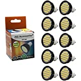JSG Accessories® 10 x GU10 5.5W 27 x SMD 5050 LED Super Bright Bulb in Warm White 3200-3500K Perfect for replacing 50W Halogen Bulb
