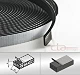 CTA Dichtungen 10m Rolle Moosgummi 10x4 mm EPDM schwarz 1C16-14