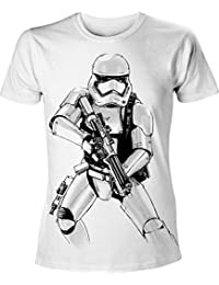 Bioworld - T-Shirt - Star Wars Episode 7 - Homme Armed Stormtrooper Blanc Taille S - 8718526067880