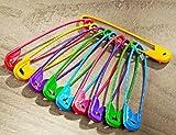 Sicherheitsnadeln farbig bunt groß SET 4,5 cm lang 5farbig, Sicherheits- Nadel Nadeln