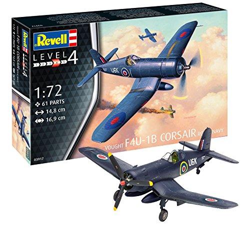 Revell Revell-F4U-1B Maqueta de F4U 1B Corsair Royal Navy, Kit Modelo, Escala 1: 72 (03917), 14,8 cm de Largo (