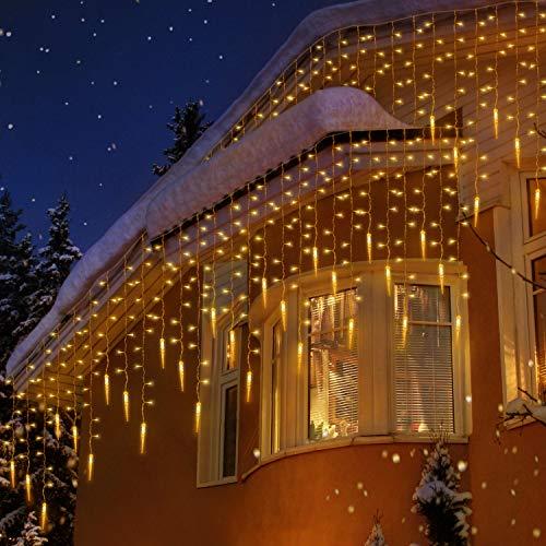 uping tenda luminosa catena luminosa esterno stringa luci led 400 luci natalizie per giardino casa feste natale matrimonio bianco caldo