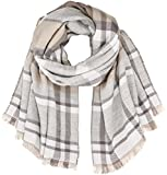 TOM TAILOR Damen Schal Lovely Check Scarf, (Cashew Beige 8229), One Size