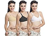 #6: Ultrafit Non-Wired Daily Wear Bra For Women Combo Pack Of 3
