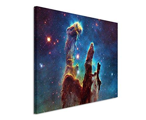 XXL Fotoleinwand 120x80cm Künstlerische Fotografie - Leuchtende Galaxie auf Leinwand exklusives Wandbild moderne Fotografie für ihre Wand in vielen Größen