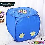 #8: Kids Mandi Laundry Basket Cute Animal Print Storage Box Large Laundry Basket