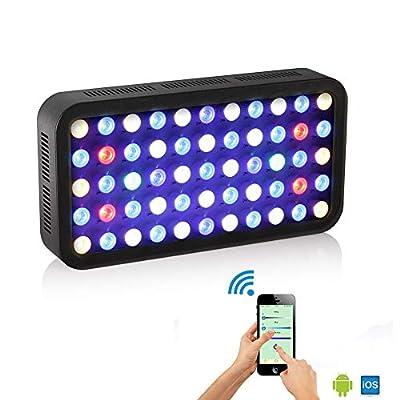 Eclairage Aquarium Lampe, APP Contrôle LED Aquarium, Automatique on/Off, Luminosité Réglable, Eclairage Aquarium LED per Poissons/Corail/Plantes