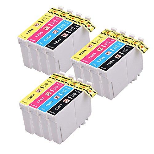 PerfectPrint - 12 compatibles cartuchos tinta T1295
