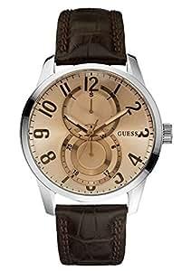 Guess Herren-Armbanduhr Analog Quarz Leder W95127G2