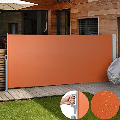Jago Tenda da sole paravento frangivento grandezza e set a scelta avvolgibile in poliestere 300 x 160 cm colore