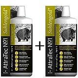2 Stück ATTRATEC No. 1 Suhlengold - Bioaktives Lockmittel für Schwarz- und Rotwild auf Basis von Buchenholzteer und pflanzlichen Lockstoffen zur Anwendung an Suhle und Malbaum.