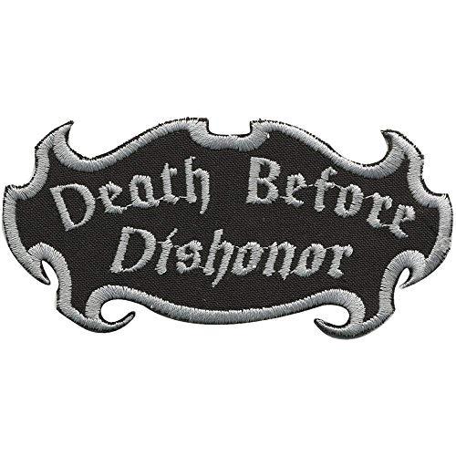 Aufnäher Patches - Death Before Dishonor - Gr. ca. 10,5cm x 5cm (01920) Bike Trike Truck Chopper Roller Motorrad Roller-patch