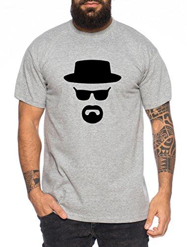 Heisenberg maglietta da uomo hermanos bad mr white breaking , farbe2:dunkelgrau meliert;größe2:s