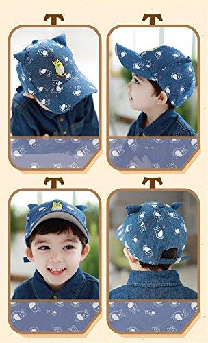Casquette Chapeau Cap Base-Ball Bébés Enfant Garçons Filles Animation Bleu