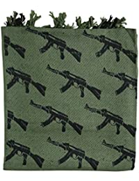 Kombat UK Shemagh - Gun Shemagh Olive Green - Arab style cotton scarf with tassels
