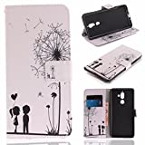 TAITOU Nokia 6.1 Wallet Movie Stand Case, Awesome Art Paint Hand Strap Cover[Money Credit Card ID Slots] New Soft PU Leather Light Case for Nokia6.1 Dandelion Lovers