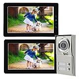 Zweifamilienhaus Video Türsprechanlage 9 Zoll Monitor schwarz Bildspeicher Video Ton
