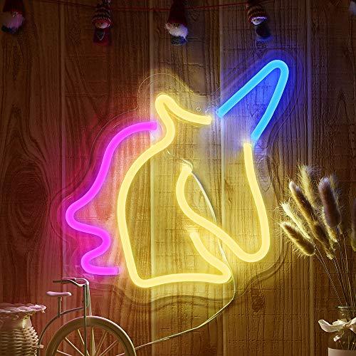 NUÜR Luz de Neón, Estrella Lunar LED Señales Luminosas Neón, USB Luces de Noche Decoración de Pared Luces de Neón Lámparas para La Sala de Estar de la Boda de Navidad de la Oficina