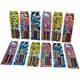 Parteet Birthday Party Return Gifts-Pack Of 12 Mix Stationery Kit Set For Kids - Assorted Colours