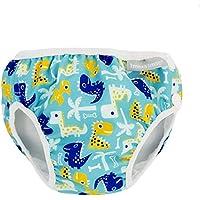 Imsevimse - Bañador para natación reutilizable, diseño de dino, color turquesa