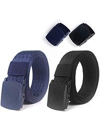 Lalafancy 2 Pack Cinturones de Nylon Militares Tácticos Militares Cinturón de Cintura Transpirable Cinturón Web Cinturón