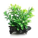 Naisicatar Wasser Gras Kunststoff Pflanze Baum Ornament, künstliche Aquarium Aquarium