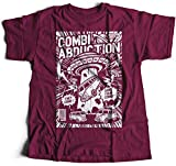 A002-220m Combi Abduction Herren T-Shirt Alien UFO Save Your Combi They Come Comics Space Geek Classic(Small,Maroon)