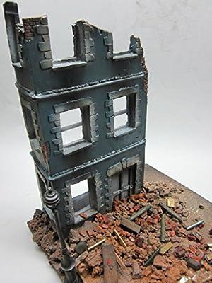 Modellbausatz Maßstab 1:35~ durch Schlacht Beschädigter Stadtteil–Ruinen-Stadtmodelbausatz von FoG models