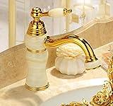 Makej Messing Bad Armatur Und Jade Wasserhahn Waschtisch Armatur Gold Wasserhahn Im Waschbecken Im Bad Armatur Waschbecken Wasserhahn Ein