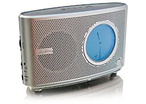 Thomson CR72 Radio Réveil Double Mode d'affichage FM/MW Double alarme Argent