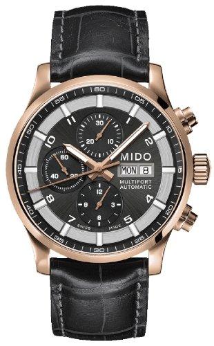 Mido Multifort Herren-Armbanduhr 44mm Armband Leder Schwarz Saphirglas Automatik Analog M005.614.36.062.52