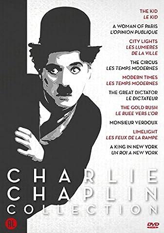 Charlie Chaplin Collection : Le Gamin / Une Femme Á Paris / Le Cirque / City Lights / Temps Modernes / Le Grand Dictateur / Ruée Vers L'or / Monsieur Verdoux / Limelight / Un Roi À New York