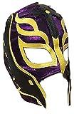 UK Halloween Carnevale Cosplay Viola Wrestling Rey Mysterio Son Of il Diavolo Zip - Bambini per Tutta la Testa Maschera - Costume Travestimento Vestito Wwe Party