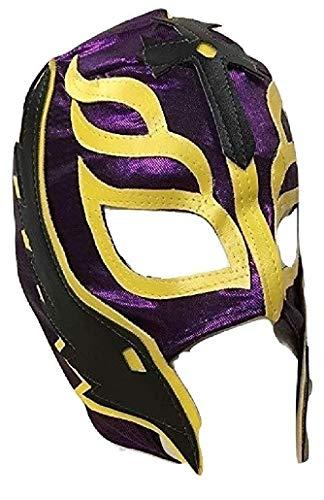 UK Halloween Karneval Cosplay Lila Wrestling Rey Mysterio Sohn der Teufel Reißverschluss - Kinder Voller Kopf Maske - Kostüm Verkleiden Outfit Wwe Party