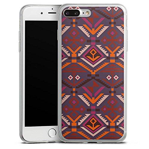Apple iPhone X Slim Case Silikon Hülle Schutzhülle Ethno Herbst Azteken Muster Silikon Slim Case transparent
