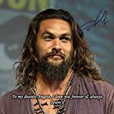 Jason Momoa - Game of Thrones - Aquaman 2 Personalised Gift Print Mouse Mat Autograph Computer Rest Mouse Mat Compatible with Laser and Optical Mice (with Personalised Message)