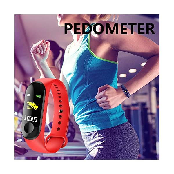 GerTong Fitness Tracker Reloj inalámbrico con pantalla colorida resistente al agua con podómetro para iPhone, Samsung… 5