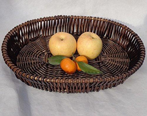 BAGEHUA Wicker Storage Warenkorb Warenkorb von Obst Gemüse Korb Rattan Korb Anzeige Essen Körbe Brot Korb Obst Oval/Größe Wicker Körbe Badezimmer