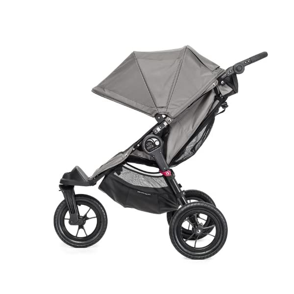 Baby Jogger City Elite Single Stroller Red  Lift one strap and the City Elite folds itself: Simply and compactly, it really is as easy as it sounds and the auto-lock will lock the pushchair for transportation or storage The City Elite offers an array of storage, including a built-in parent console that keeps your most used items at your fingertips, an adjustable handlebar and a hand-operated parking brake keeps all the controls within reach Suitable from birth, the seat reclines to a near flat position with vents and a retractable weather cover plus SPF 50+ hood throws a lot of shade on a sunny day and has a peek-a-boo window with magnetic closure so you can quietly check on your little one 11