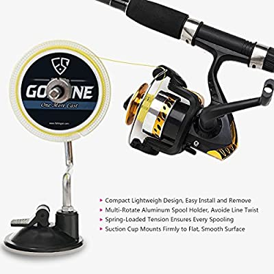 Aluminum Portable Fishing Line Winder Spinning Reel Spool Spooler System with FREE GIFT Fishing Line Scissors by OneStone