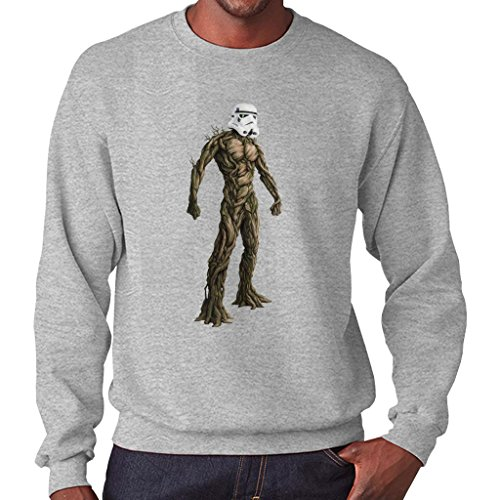 (Groot Guardians of The Galaxy Star Wars Stormtrooper Head Men's Sweatshirt)