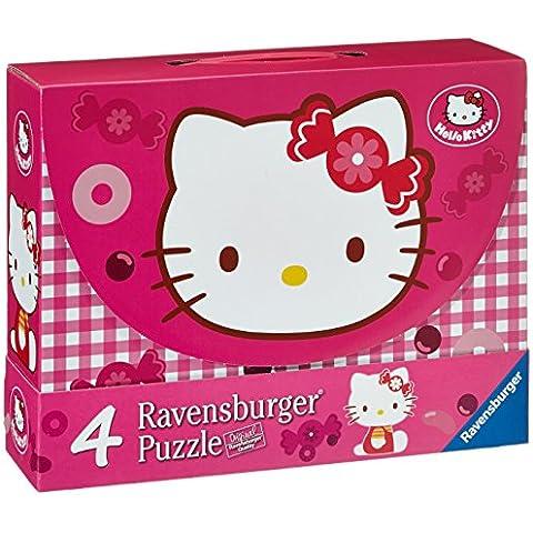 Hello Kitty - Maleta con 4 puzzles (Ravensburger 07263 7)