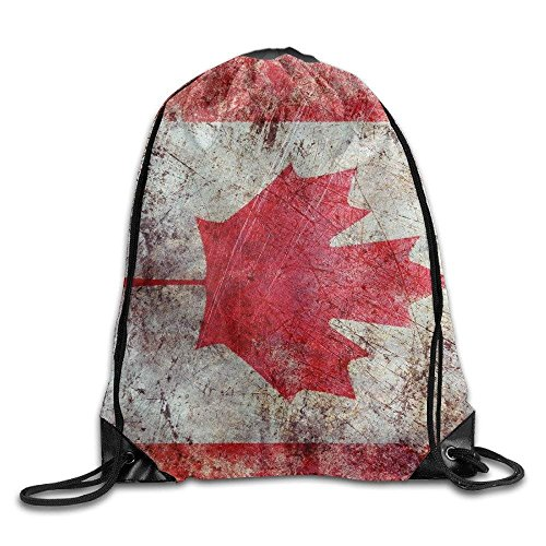 Gym Drawstring Art Canada Flag Unisex Drawstring Bag Simple Drawing Quick Dry Backpack Bag